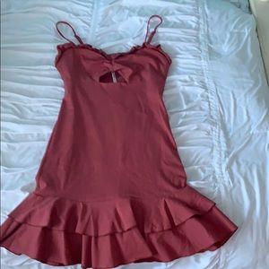 ASOS Ruffle Cutout Dress
